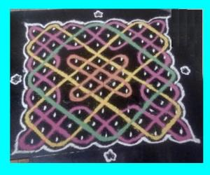 Rangoli: Kitchen top kolam