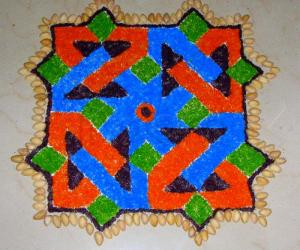 Rangoli: Seven-up kolam