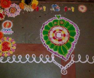 Rangoli: Ganapati rangoli