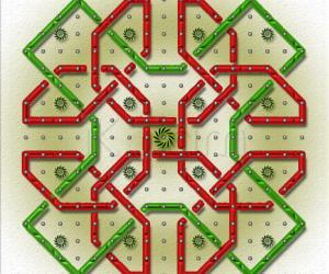Rangoli: Inspired by 'JKM's Simple Celtic Knot'