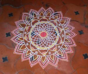 Rangoli: varalakshmi viratham