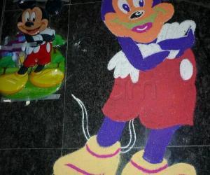 Rangoli: Micky Mouse