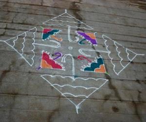 Rangoli: Umbrella kolam