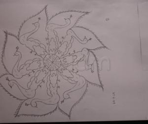pencil sketch rangoli