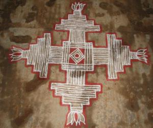 Rangoli: Padi Kolam 2