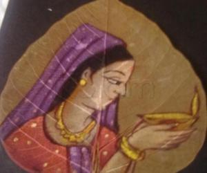 Rangoli: aswatta leaf painting-5
