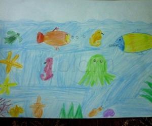Rangoli: Sea Crusier drawing