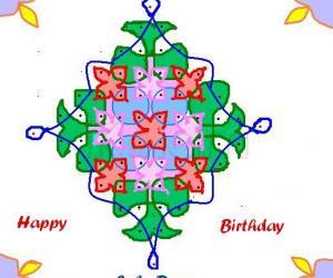 Rangoli: HAPPY BIRTHDAY SUBA DEAR