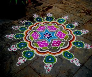 Rangoli: Krishnajeyanthi - (50th kolam)