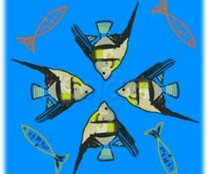 Rangoli: angel fish