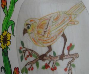 Rangoli: Embroidery  Back stitch