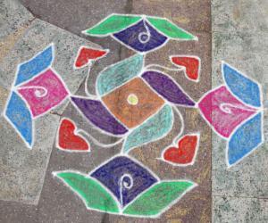 Rangoli: dotted kolam 25