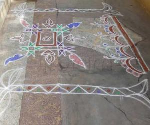 Rangoli: free hand kolam 17