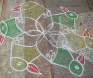 Rangoli: free hand kolam 19