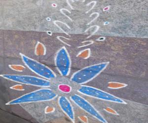 Rangoli: free hand kolam 6