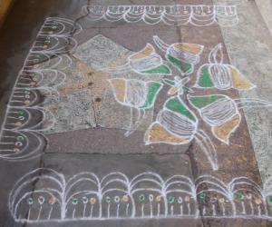 Rangoli: dotted kolam 40