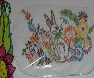 Rangoli: laisy daisy stitch sample