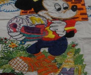Rangoli: mickey mouse embroidery
