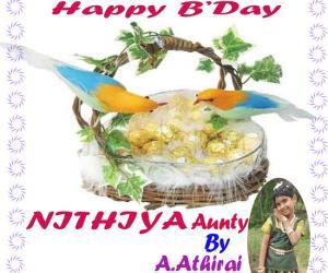 Rangoli: Happy Birthday Nithiya Mam