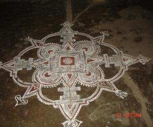Rangoli: puthandu maa kolam