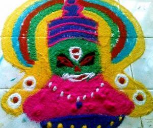 Rangoli: yakshagana face