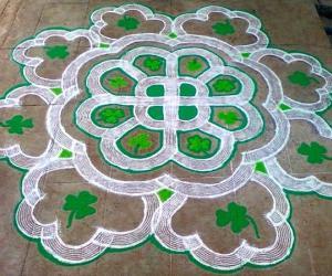 Rangoli: St.Patrick's Day Rangoli