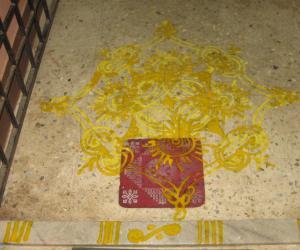 Rangoli: Varalakshmi Nombu Padi Kolam