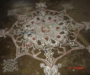 Rangoli: varalakshmi pooja maa kolam