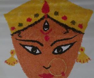 Rangoli: Durga Rangoli