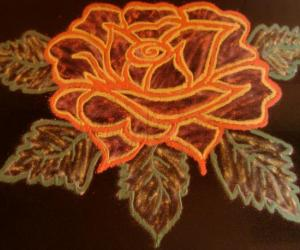 Rangoli: Fully Bloomed Rose for Maha