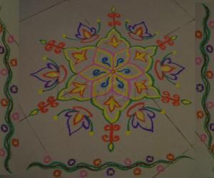 Colorful Podikolam