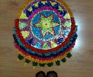 Beads Rangoli