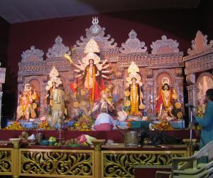 Rangoli: Goddess Durga Devi