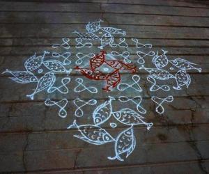 Rangoli: Navarathri rangoli 4