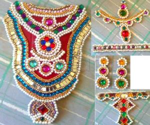 Rangoli: Ambal Jewels - For kalasam decoration - Golu 2011