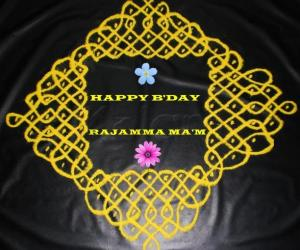 Rangoli: BIRTHDAY WISHES KOLAM