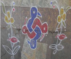Rangoli: dotted kolam 51