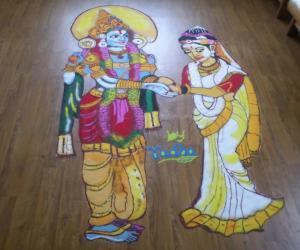 SRI PADMAVATHY&SRI SRINIVASA KALYANA RANGOLI
