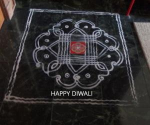kanya kolam for diwali