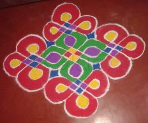 dotted color kolams
