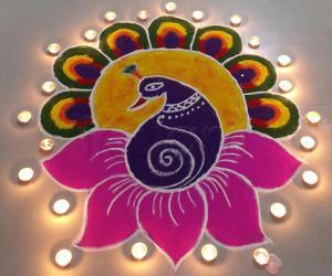 My 2015 Diwali rangoli