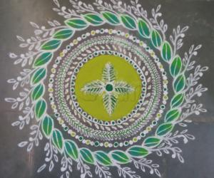 Rangoli: Navarathri  day 7