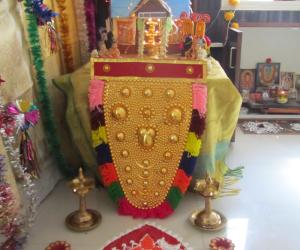 Golu with Guruvayoor Temple Sreeveli theme at Bangalore - 2014