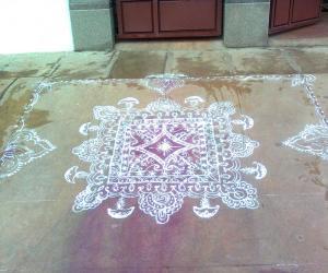 Rangoli on Deepavali