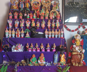 Dual themed Kolu by Srividya Nandhakumar