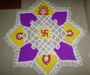COLOR CHIKKU KOLAM