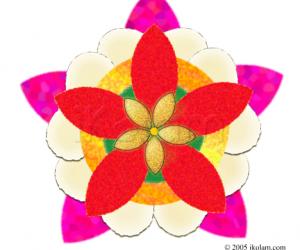 Rangoli: Pookalam / pookolam rangoli
