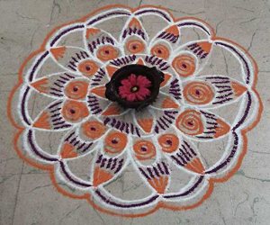Rangoli: A simple freehand rangoli
