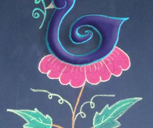 Bird on a flower