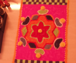 carpet kolam for navarathiri